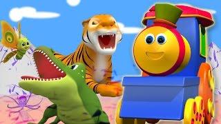 Bob der Zug   bob Zug Tiere abc für Kinder   lernen Tiere und abc