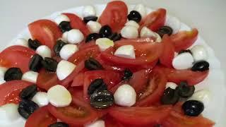 САЛАТ «А-ЛЯ КАПРЕЗЕ» Рецепт вкусного и полезного салата.Здоровое питание .Готовим с Инной