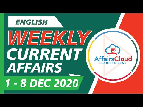 Current Affairs Weekly 1-8 December 2020 English   Weekly Current Affairs   AffairsCloud