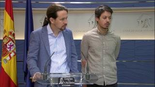 Rueda de prensa de Pablo Iglesias y Segundo González sobre nuestro proyecto sobre la regla de gasto