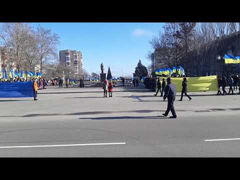 РИА Мелитополь: В Мелитополь взялись за руки в цепи единения