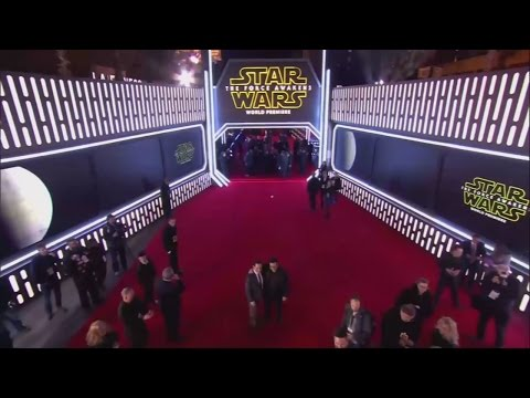 Star Wars: The Force Awakens world premiere in LA