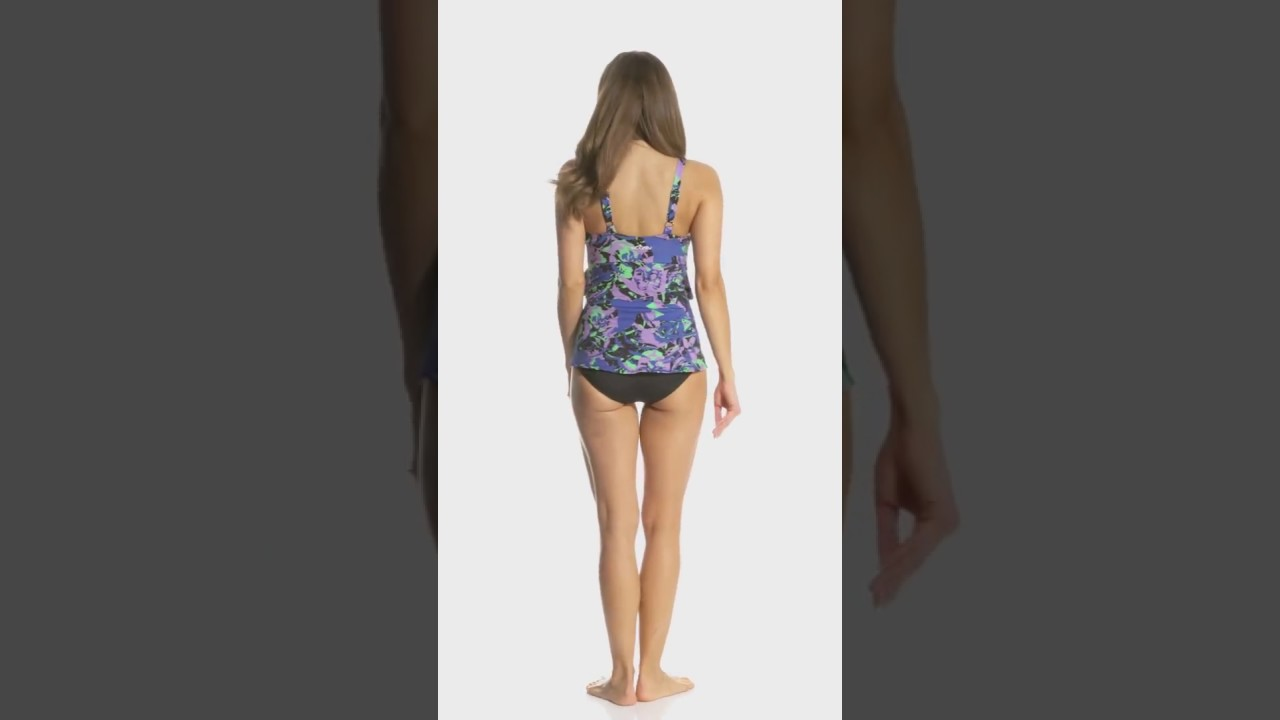 3056ce4adc74f Dolfin Aquashape Women's Eden Ruffle Tier One Piece Swimsuit |  SwimOutlet.com