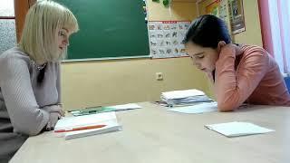 Фрагмент урока французского языка в студии ЕВРОПА.