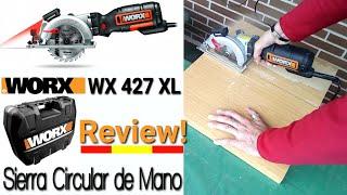 WORX WX427 XL 710W Español SIERRA CIRCULAR DE MANO Corte Guiado por Láser REVIEW ESPAÑOL
