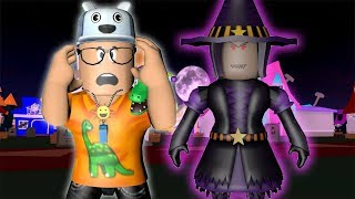 STORIES OF ROBLOX: THE BOY AND THE LITTLE WITCH SAPECA! -Play Old man