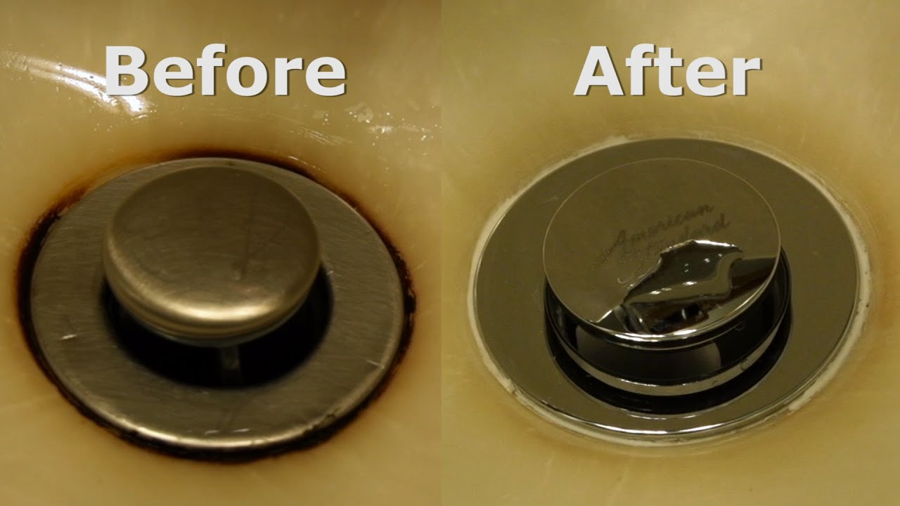 Removing A Rust Stain From A Sink YouTube - Remove stains from bathroom sink