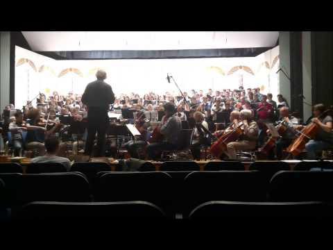 Freude schöner Götterfunken  - Erste Orchesterprobe