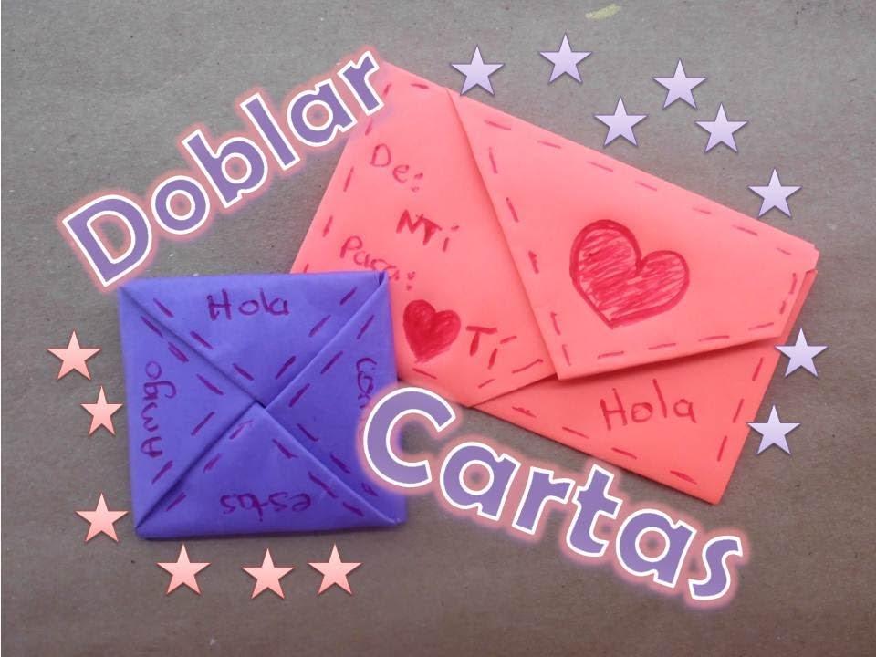 doblado de papel para cartas