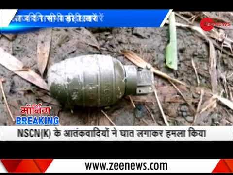 Morning Breaking: 4 Assam Rifles jawans killed in militant ambush in Nagaland