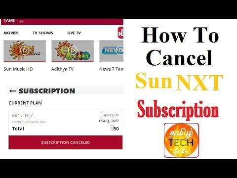 How to Cancel Sun NXT App Subscription - #SunNXT - YouTube