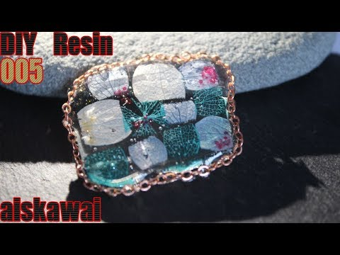 [Resin Tutorial] Making resin jewelry with real flowers/ DIY resin