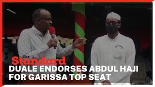 Adel Duale joins other leaders in endorsing Abdul Haji to succeed his fathers as Garissa senator