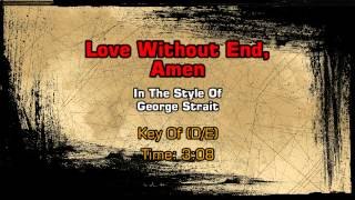 George Strait - Love Without End, Amen (Backing Track)