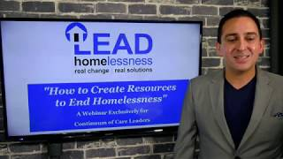 """How a Continuum of Care can Create Resources to End Homelessness"""