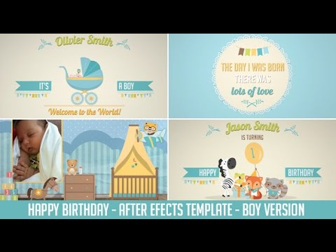 Birthday After Effects Template - Boy Version