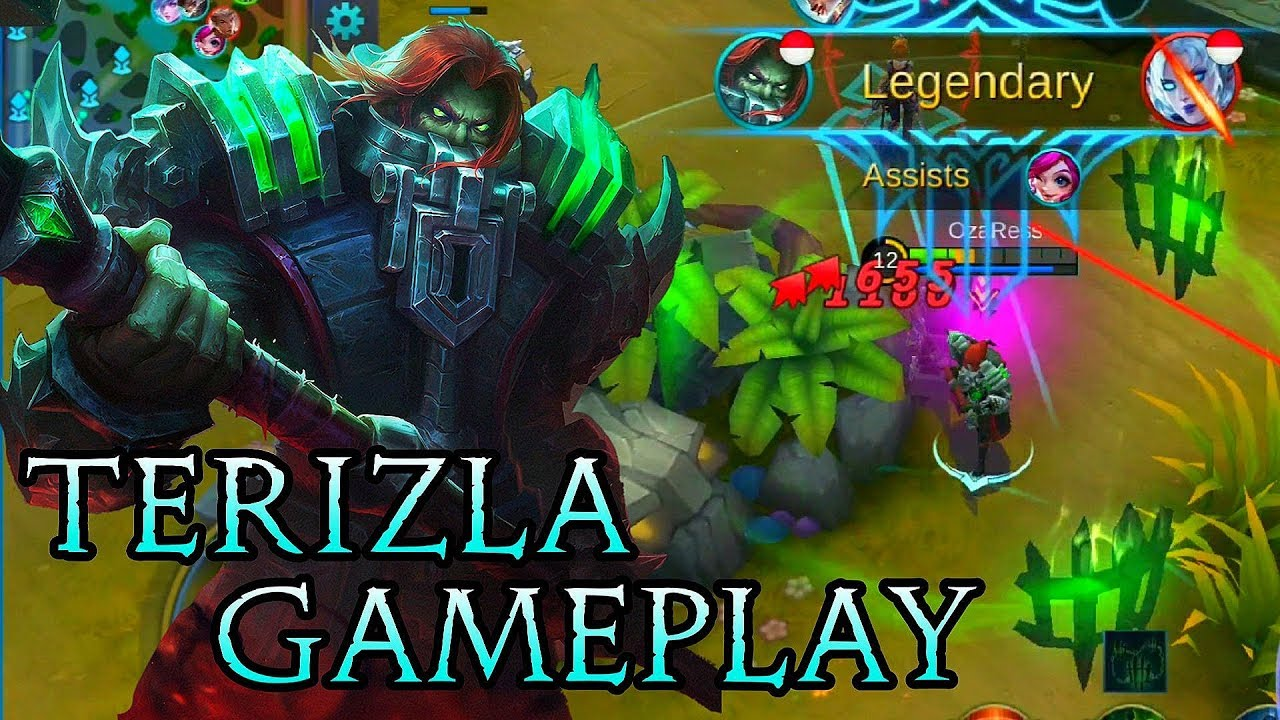 new hero terizla gameplay - mobile legends bang bang - youtube