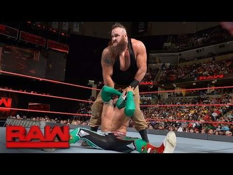 Sin Cara vs. Braun Strowman: Raw, Sept. 19, 2016