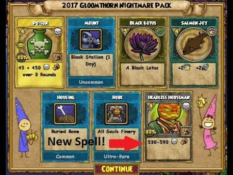 Wizard101: ONE 2017 Gloomthorn Nightmare Pack (Insane Luck)