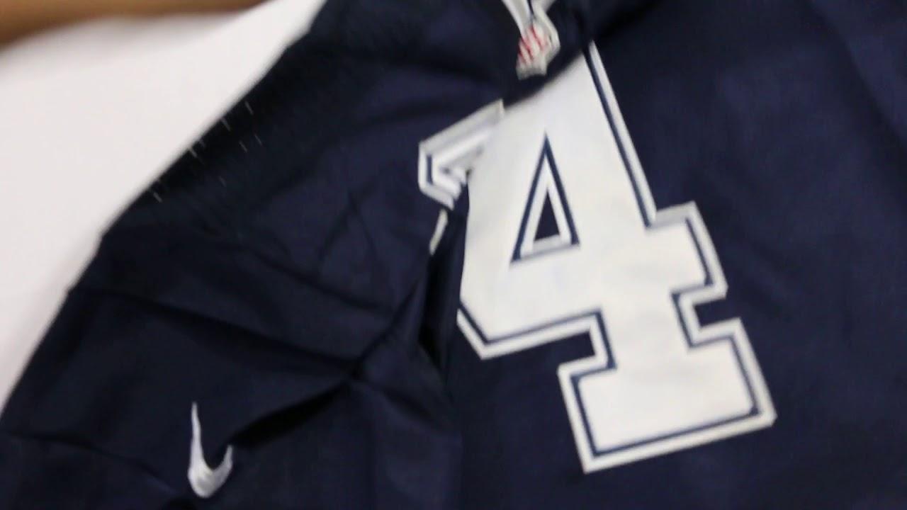 best website b5740 90fef Nike Cowboys #4 Dak Prescott Navy Blue Team Color Men's Stitched NFL Elite  Jersey
