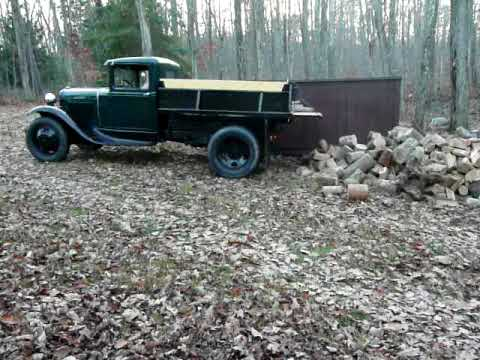 James Wood Chevrolet >> 1931Ford Model AA Dump Truck hauling firewood - YouTube