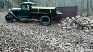 1931Ford Model AA Dump Truck hauling firewood