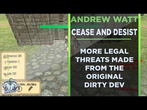 Andrew Watt sent me a Cease and Desist Letter