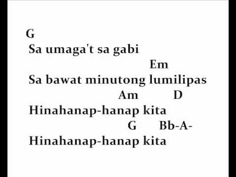 Guitar guitar chords kisapmata : hinahanap hanap kita chords and lyrics. - YouTube