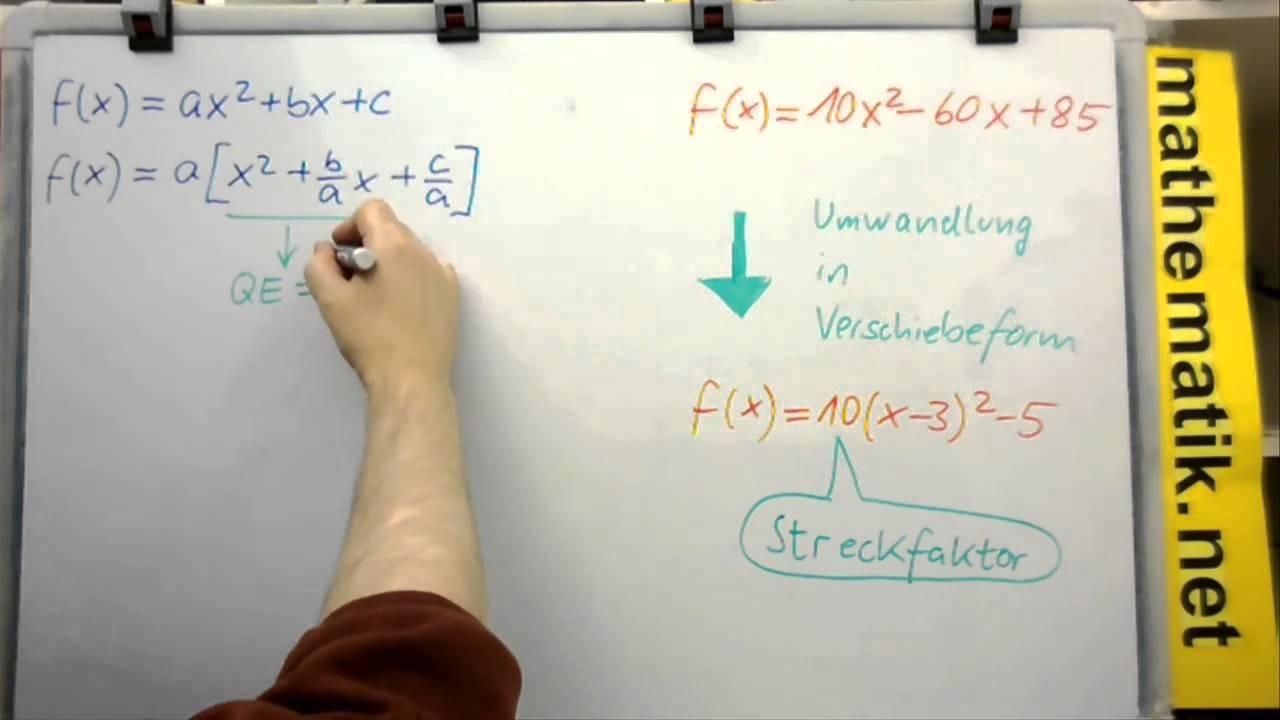 Quadratische Funktionen - Streckfaktor bei allg. Form bestimmen (mit ...