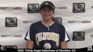 2022 Trinity Angel Altamirano Pitcher and Second Base Softball Skills Video - 643 Academy