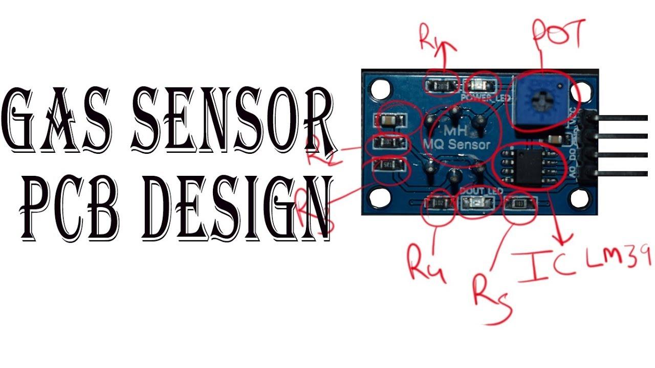 mq2 gas sensor pcb design