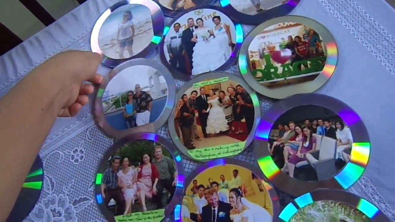 RECYCLING CD'S INTO A PHOTO FRAME (WALL DECORATION) - YouTube