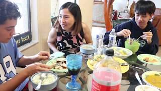 Vlog 186 ll Cả nhà ăn cơm cà ri gà , Đăng và Tony có cuộc  thi cười bể bụng luôn