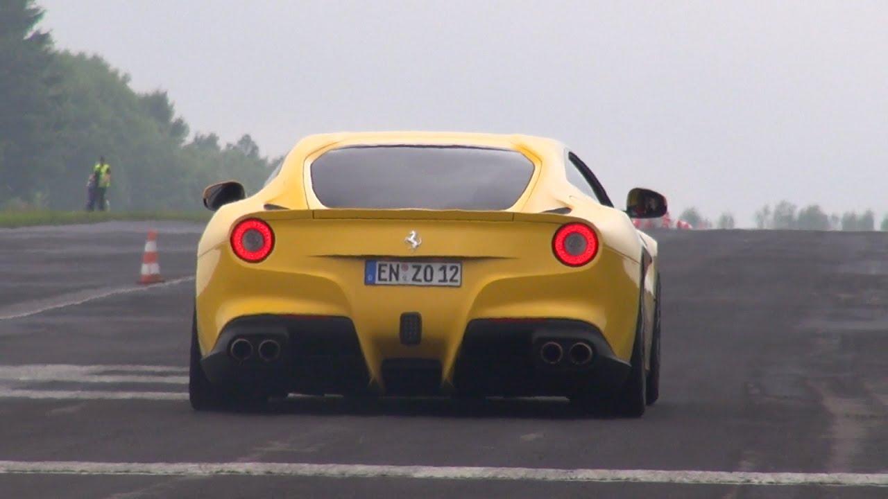 740hp ferrari f12berlinetta start up revs flatout