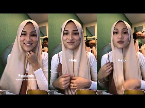 Hanis Zalikha kena kacau dengan Yusuf Iskandar & daddy Hairul Azreen masa buat tutorial tudung baru