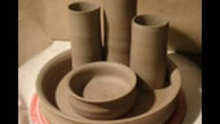 Making / Throwing A Clay Pottery Desk Tidy On The Wheel. How To Make A Simple Desk Tidy