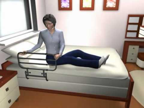 ez adjustable bed rail - youtube