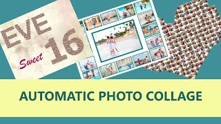 Automatic Photo Collage Creation ✨ Grid, Shape, Name, Number Collages screenshot 1