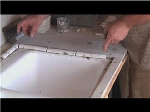 Kitchen Tile Basics : Installing Tile Around A Kitchen Sink   YouTube