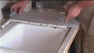 Kitchen Tile Basics : Installing Tile Around A Kitchen Sink