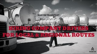 Martin Transport | Hiring for Local & Regional Routes