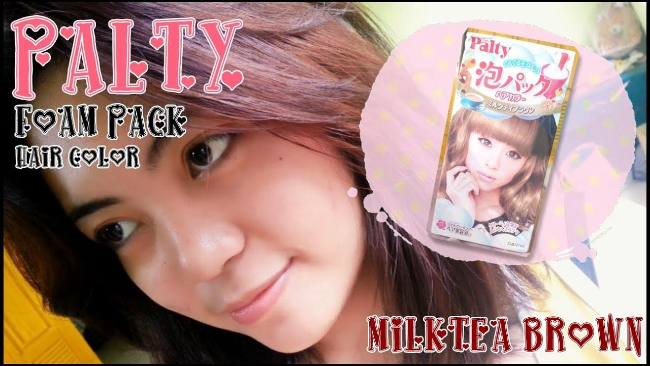 Demo Palty Foam Pack Hair Color Milktea Brown Youtube