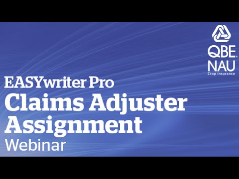 Claims Adjuster Assignment