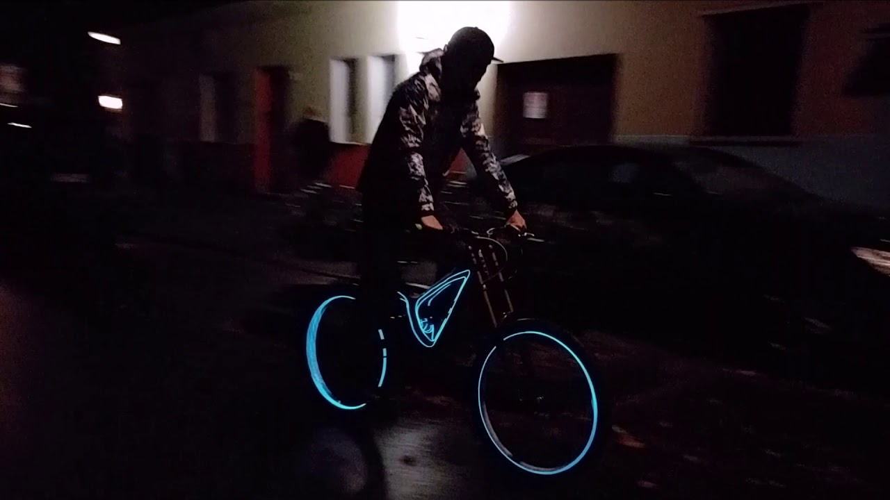 Fahrrad Tron Licht Tunning downhill Tron Bicycle - YouTube