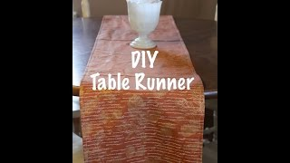 Diy Table Runner | Sewing Project For Beginners