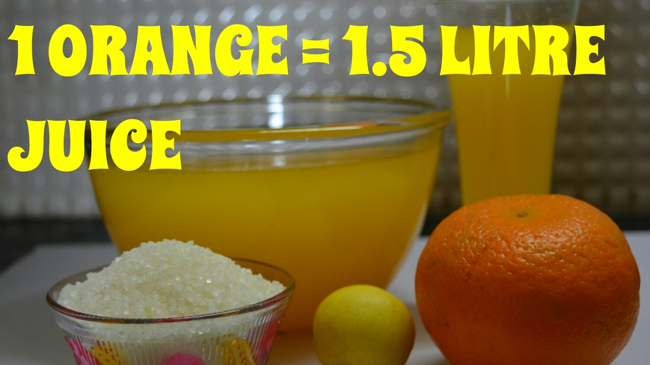 how to make juice of orange