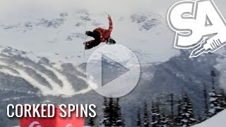 How to do Corked Spins on a Snowboard - Frontside and Backside Corked Spins Trick Tip - Teaser