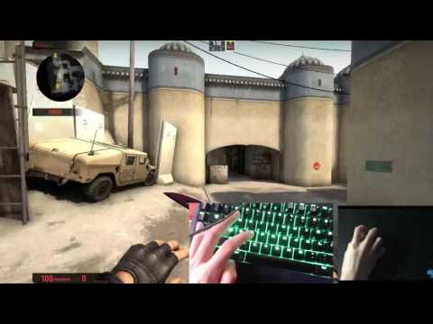 2018 CS:GO Bunny HOP TUTORIAL With Keyboard + Mouse CAM!
