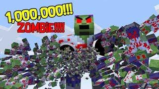 Monster School : 1 Million ZOMBIE APOCALYPSE (Part 2) - Minecraft Animation