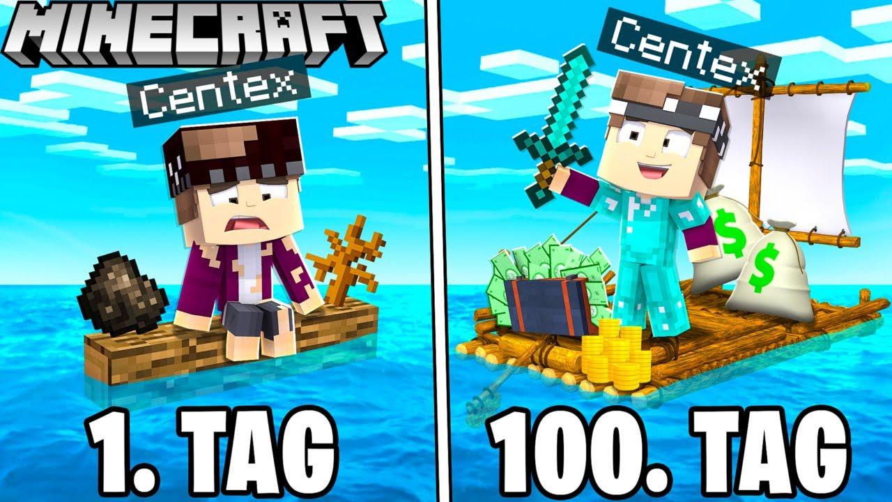 100 Tage auf dem MEER ÜBERLEBEN in Minecraft!